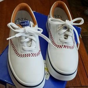 🔥Keds baseball stitch white snickers
